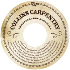 Old Time Higgins Cd Label In Parchment