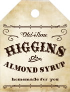 Old Time Higgins Small Luggage Tag In Parchment