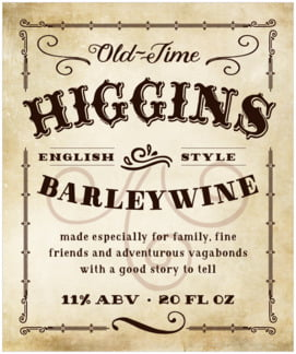 Old Time Higgins large labels