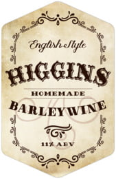Old Time Higgins tall hexagon labels