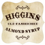 Old Time Higgins Fancy Square Label In Parchment