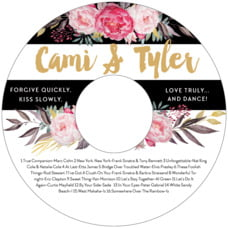 Blooms & Bands Cd Label In Pink