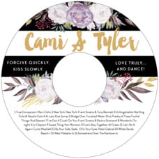 Blooms & Bands Cd Label In Lilac