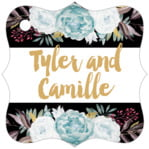 Blooms & Bands fancy square tags