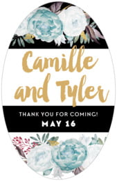 Blooms & Bands tall oval labels
