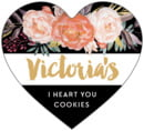 Blooms & Bands heart labels