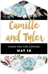 Blooms & Bands tall hexagon labels