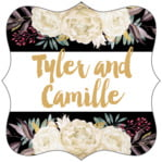 Blooms & Bands fancy square labels