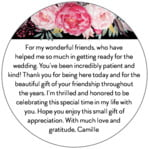 Blooms & Bands circle text label