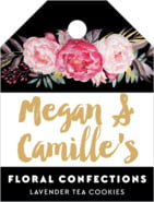 Blooms & Bands small luggage tags