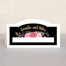 Blooms And Bands Place Card In Pink