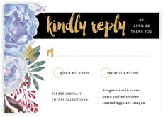 Blooms & Bands response cards