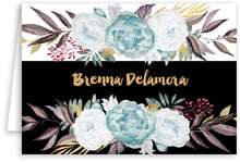 Blooms & Bands Folding Stationery Card In Aruba