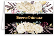 Blooms & Bands folding stationery cards