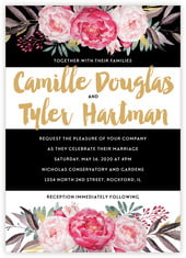 Blooms & Bands invitations