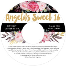 Blooms And Bands Cd Label In Pink