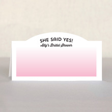 Ombre Sunset Place Card In Pink