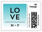Ombre Sunset business postage stamps
