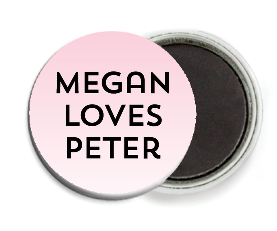 custom button magnets - pink - ombre sunset (set of 6)