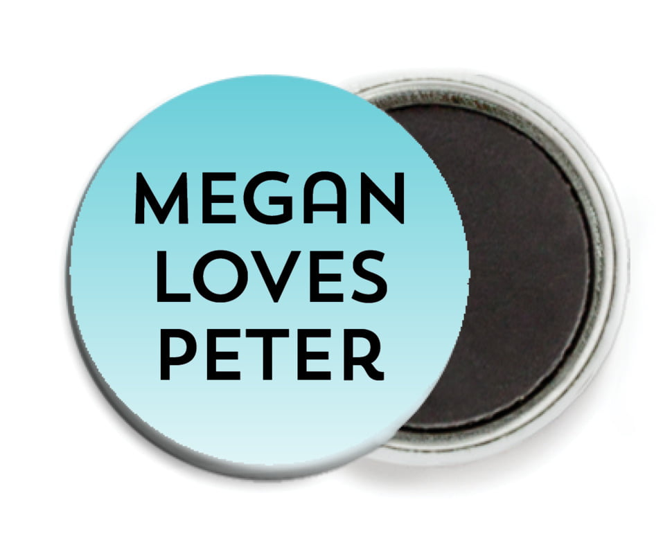 custom button magnets - turquoise - ombre sunset (set of 6)