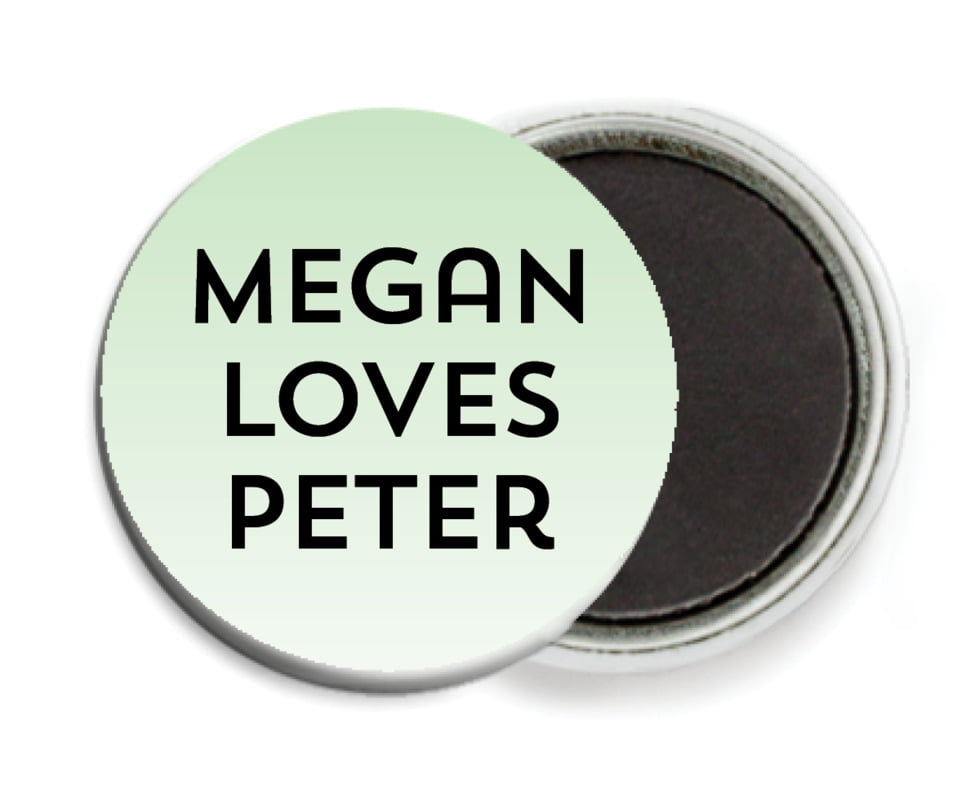 custom button magnets - mint - ombre sunset (set of 6)