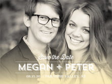 custom save-the-date cards - sunflower - ombre sunset (set of 10)