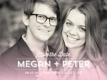 custom save-the-date cards - pink - ombre sunset (set of 10)