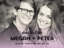 custom save-the-date cards - lilac - ombre sunset (set of 10)