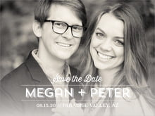 custom save-the-date cards - stone - ombre sunset (set of 10)