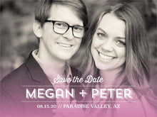 custom save-the-date cards - radiant orchid - ombre sunset (set of 10)