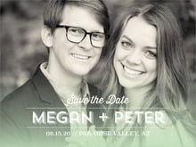 custom save-the-date cards - mint - ombre sunset (set of 10)
