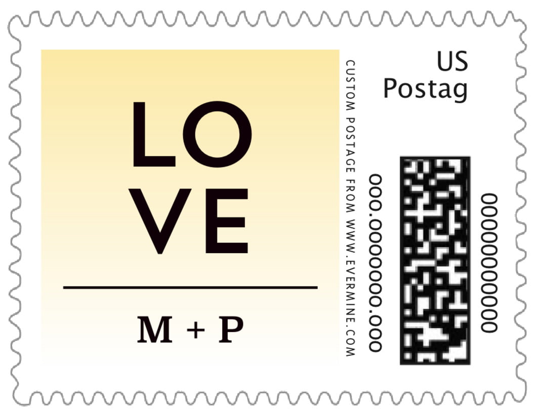 small custom postage stamps - sunflower - ombre sunset (set of 20)