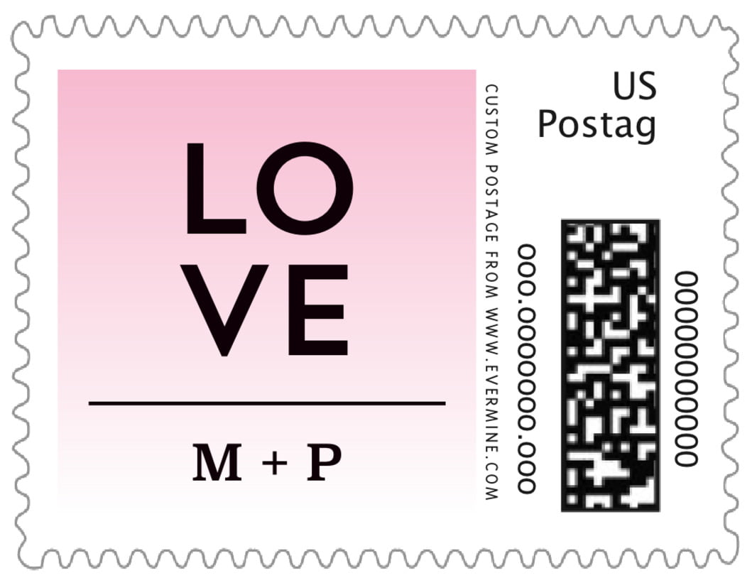 small custom postage stamps - pink - ombre sunset (set of 20)