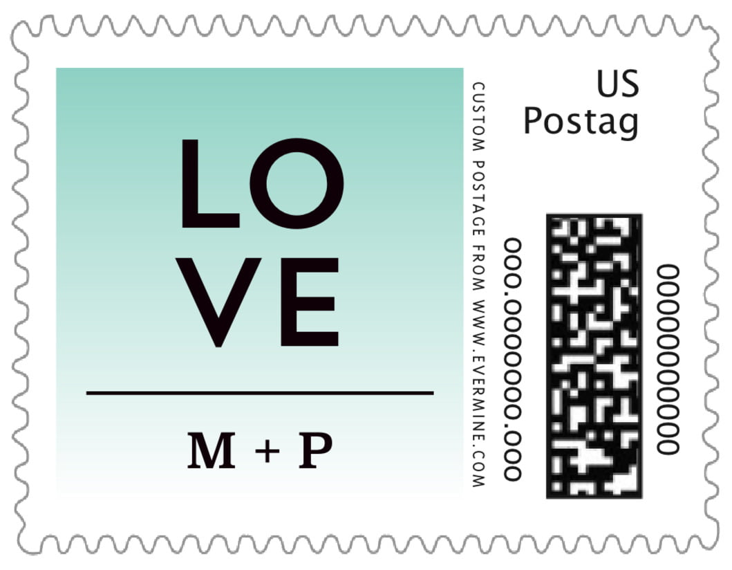 small custom postage stamps - aruba - ombre sunset (set of 20)
