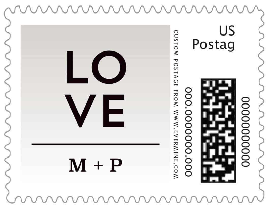 small custom postage stamps - stone - ombre sunset (set of 20)