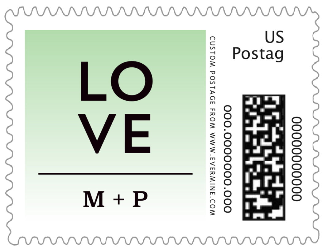 small custom postage stamps - mint - ombre sunset (set of 20)
