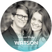 Ombre Sunset Round Coaster In Turquoise