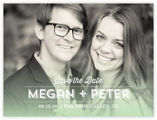 Ombre Sunset save the date cards