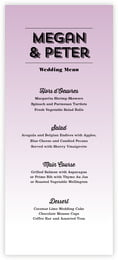 Ombre Sunset menus