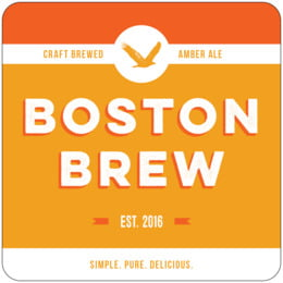 Boston Brew square coasters