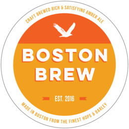 Boston Brew round coasters