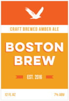 Boston Brew tall rectangle labels