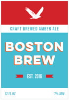 Boston Brew Tall Rectangle Label In Sky