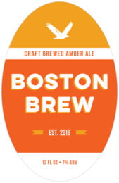 Boston Brew Tall Oval Label In Carrot