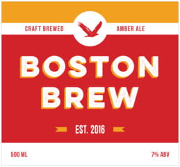 Boston Brew large rectangle labels