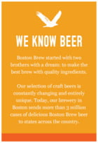 Boston Brew Text Label In Carrot