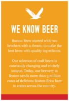 Boston Brew text labels
