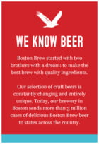 Boston Brew Text Label In Sky