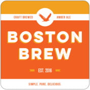 Boston Brew Square Coaster In Carrot
