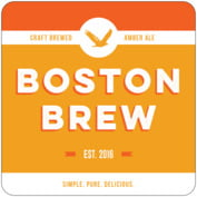 Boston Brew Square Coaster In Tangerine